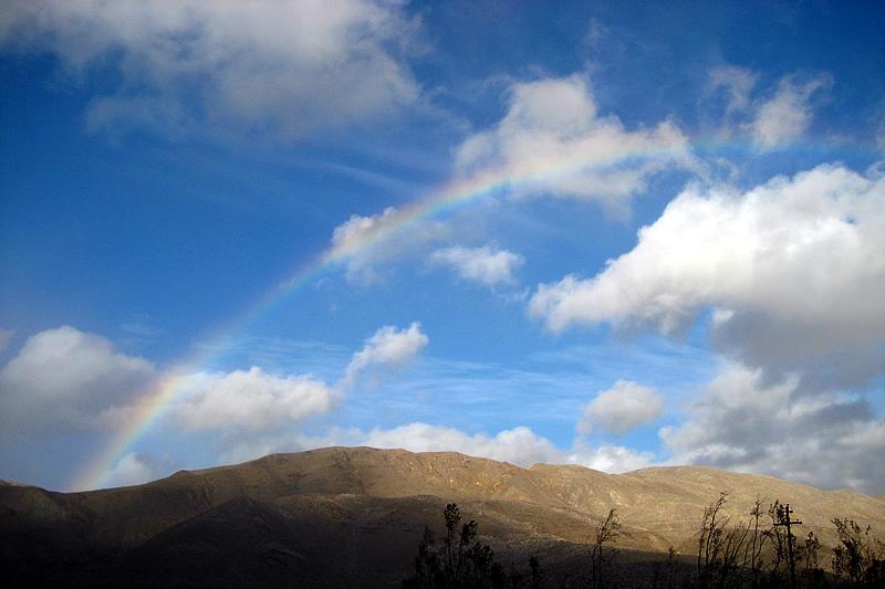 Blue Sky Rainbow in Mason Valley
