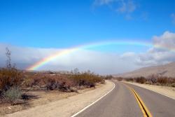 Blue Sky Rainbow in Earthquake Valley