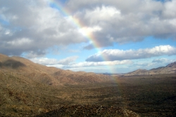 Rainbow from Campbell Grade, overlooking Vallecitos