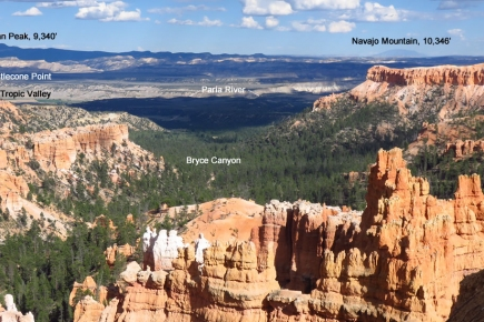 View from Queen's Garden Trail down Bryce Canyon