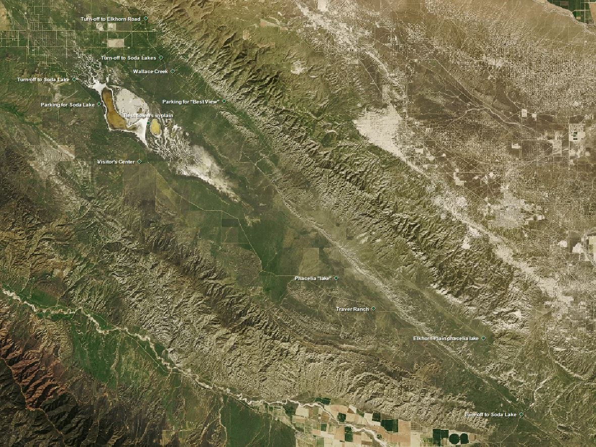 Waypoints in the Carrizo Plain