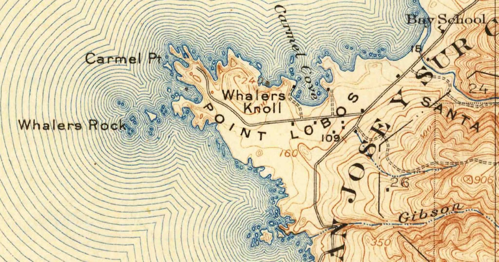Point Lobos inset, 1913, from USGS 1946 edition
