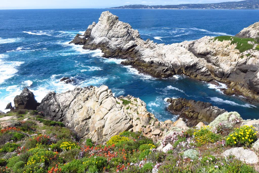 Pinnacle Cove, Carmel Bay on the horizon