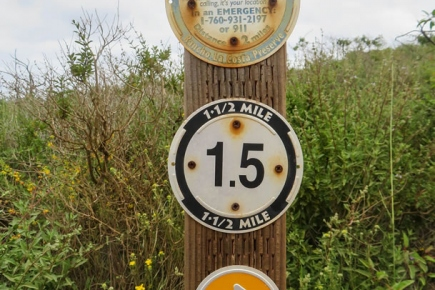 The 1.5 mile marker