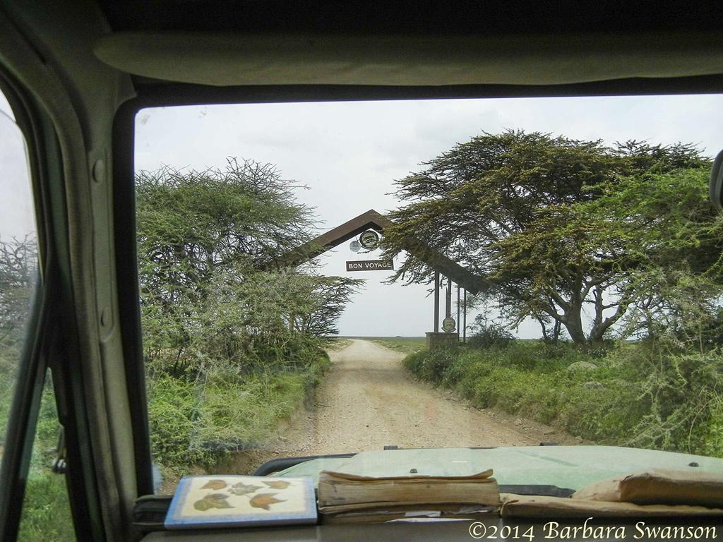 Leaving the Serengeti National Park