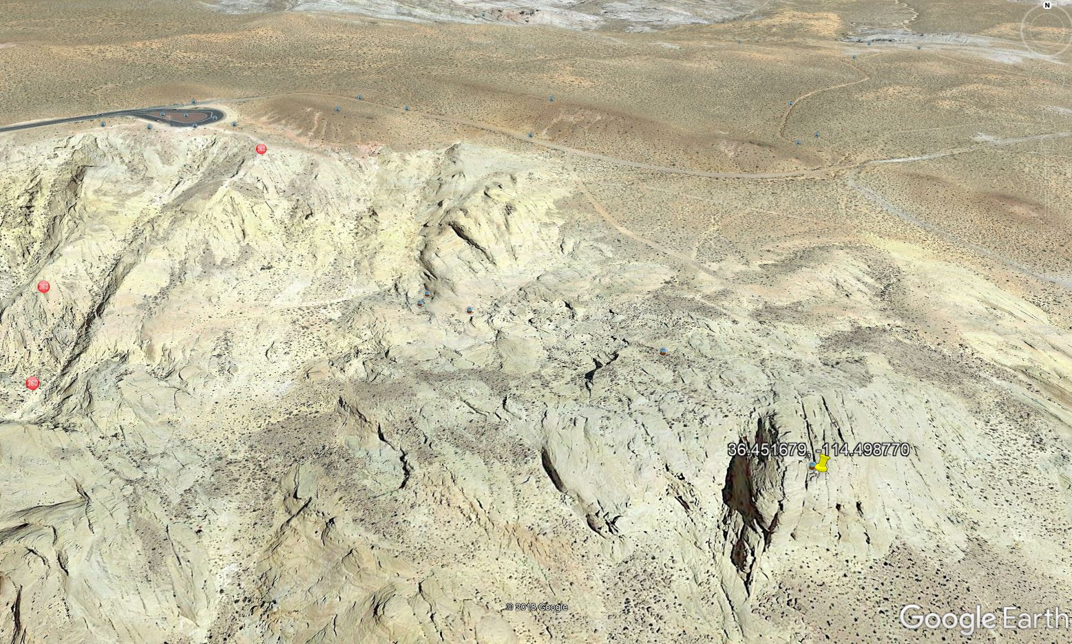 Google Earth view of Captain Kirk's final resting place